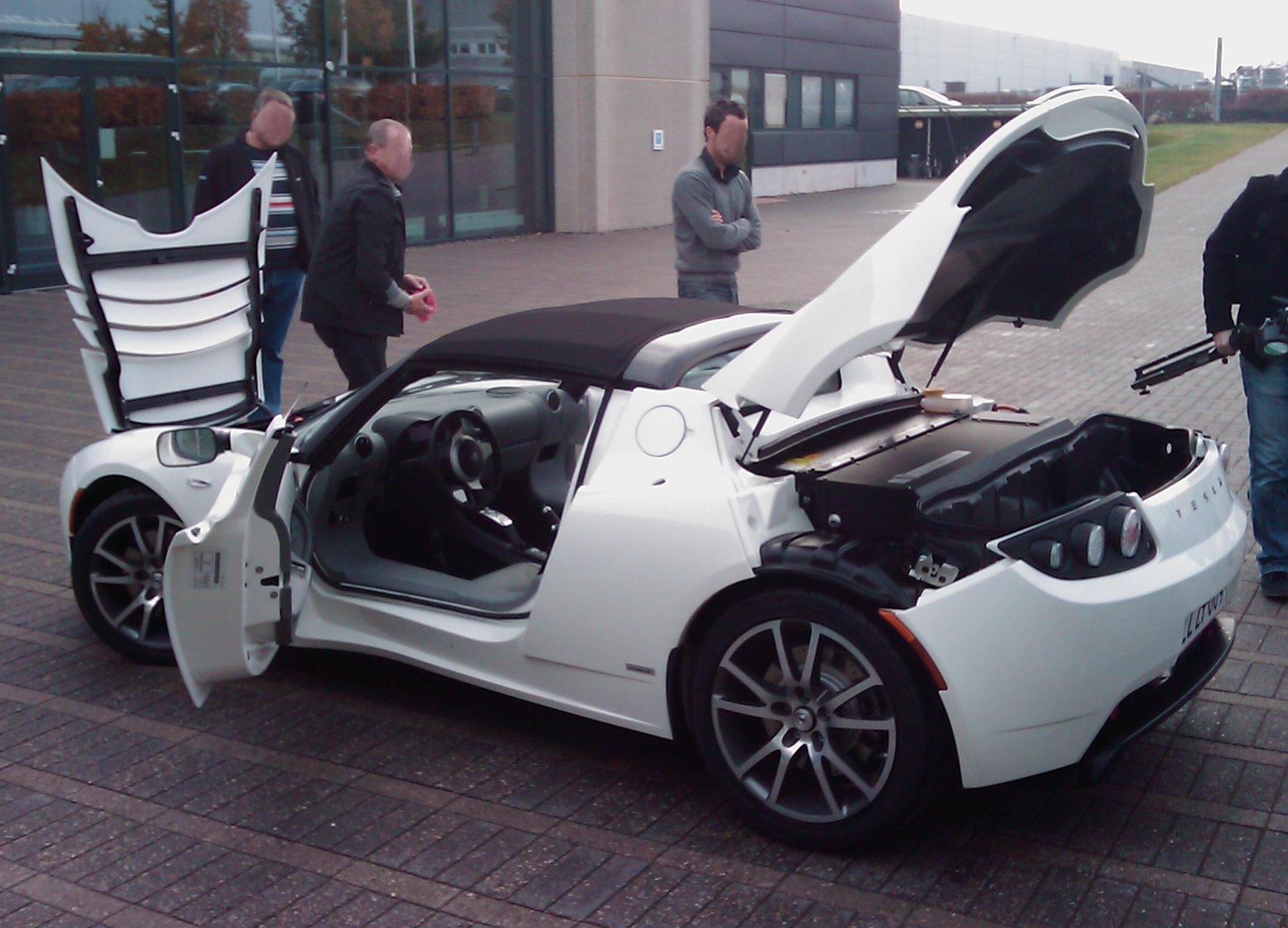 Tesla Roadster Hacia El Coche El 233 Ctrico Cenit Del